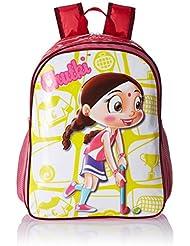 Chhota Bheem Nylon Dark Pink School Bag (GGSCB-CB12C)