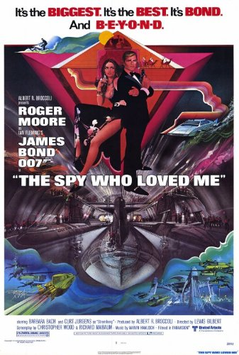 The Spy Who Loved Me Poster 27x40 Roger Moore Barbara Bach Curt Jurgens