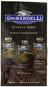 Ghirardelli Chocolate Intense Dark Squares, Assortment, 6.38-Ounce Bags (Pack of 3)