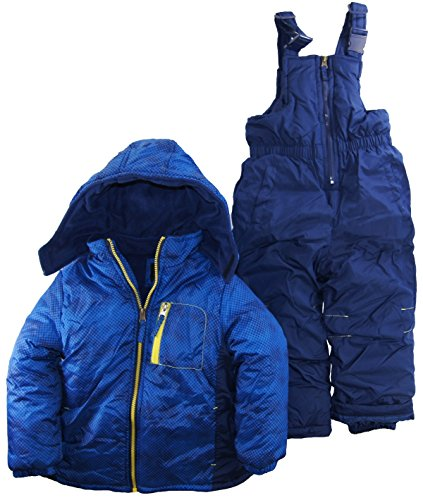 Ixtreme Little Boys 4-7 Color Block Two Piece Snowsuit Set, Royal, 7 front-813210