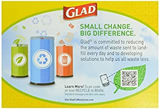 Glad Tall Kitchen Drawstring Blue Recycling Trash Bags, 13 Gallon, 45 Count
