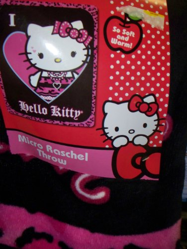 Hello Kitty Punk Jewels Throw Blanket