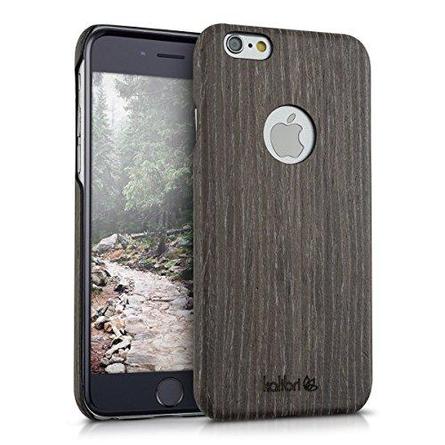 kalibri-Holz-Case-Hlle-fr-Apple-iPhone-6-6S-Handy-Cover-Schutzhlle-aus-Echt-Holz-und-Kunststoff-aus-Gingkoholz-in-Anthrazit