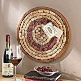 Wine Enthusiast Round Wine Cork Board Kit