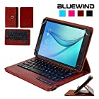 Blue Wind Universal 7-8 Inch 360 Degree Rotatable Tablet Portfolio Leather Case W/ Detachable Bluetooth Keyboard for Samsung Galaxy Tab S2 8.0 T715 / Note 8.0 / Tab 2 7.0 / Tab 3 7.0 / Tab 4 7.0 / Tab 3 Lite 7 / Tab 3 8.0 / Tab 4 8.0 / Tab Pro 8.4 / Tab S 8.4 / Tab A 8.0 / Acer A1-810 / W3-810 / iPad Mini / New iPad Mini Retina Display / Asus Memo Pad HD 7 / Dell Venue 8 Pro / Nexus 7 / Nexus 7 HD Support Android / IOS / Windows Systems - Brown