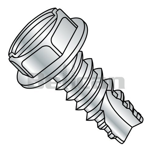 #6-20 Thread Size Plain Finish 5//8 Length 18-8 Stainless Steel Sheet Metal Screw Pack of 50 Slotted Drive Type AB Hex Washer Head