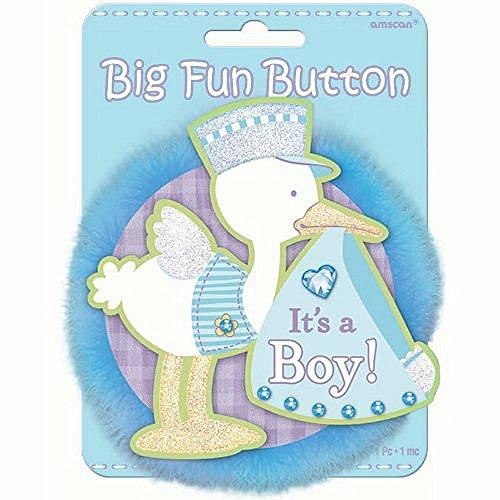 It's a Boy Big Fun Button - 1