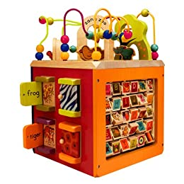 Product Image B. Zany Zoo Wooden Activity Cube