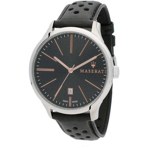 Reloj Maserati Atttrazione R8851126003 Hombre Negro Piel Calendario