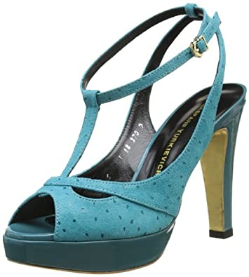 Gaspard Yurkievich Sandal, Sandales femme - Turquoise (Var10), 36 EU