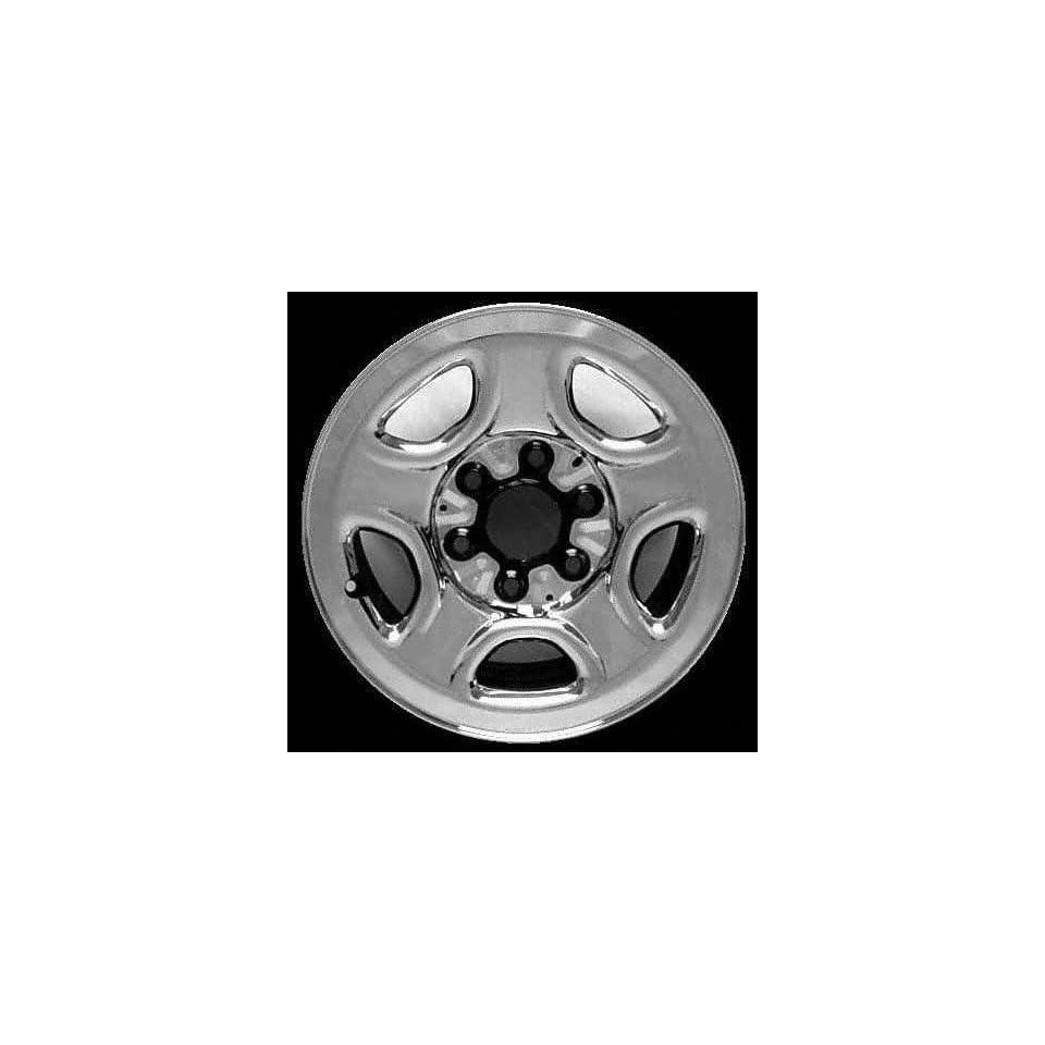99 02 CHEVY CHEVROLET SILVERADO PICKUP STEEL WHEEL RH (PASSENGER SIDE) RIM 16 INCH TRUCK, Diameter 16, Width 6.5, BRIGHT SILVER (1999 99 2000 00 2001 01 2002 02) STL05071U20R