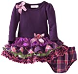 Bonnie Baby Baby-Girls Infant Knit Bodice To Multi Tiered Skirt