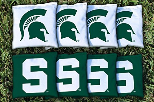 NCAA Replacement Corn Filled Cornhole Bag Set NCAA Team: Michigan State Spartans (Ncaa Corn Hole compare prices)