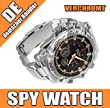 Magnum® HD IR Camera Watch - Spy Watch - Armbanduhr mit integr. Kamera verchromt