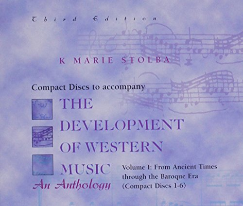 Compact Disk; Vol I for use with The Development Of Western Music PDF