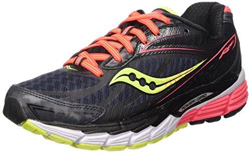 Saucony Ride 8 - Scarpe da Trail Running donna, Nero (Midnight/Coral/Citron), 37.5 EU