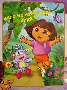 Dora the Explorer Here We Come Plush Blanket