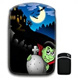 Creepy House on Hill With Vampire in Graveyard For Amazon Kindle Fire & Kindle 3G Keyboard Soft Protection Neoprene Case Cover Sleeve Bag With Pocket which is Ideal for Headphones, Data Cable etc