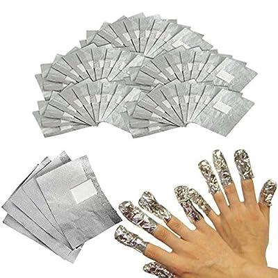 INHDBOX 100 Nail Art Soak Off Removal Gel/Polish/Acrylic/Shellac Foil Wraps