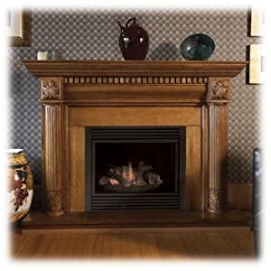 Majestic Cdvt36psc7 36 Top Direct Vent Liquid Propane Gas Fireplace With Signature