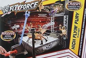 HIGH FLYIN' FURY FLEX FORCE WWE TOY WRESTLING RING PLAYSET