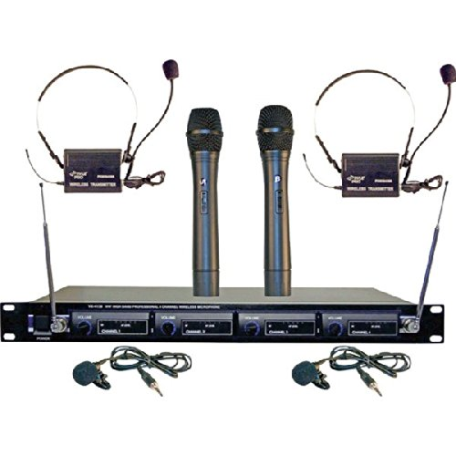 Pyle 4Mic Vhf Wireless Microphone System