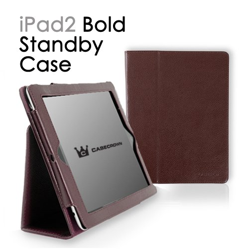 CaseCrown Bold Standby case (Brown) for iPad 2 (Built-in magnet for Apple Smart Cover's sleep & awake)