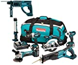 Makita 18V LXT Li Ion DK18027 6 Piece Kit And BHR202 BHR202Z BHR202Rfe Sds Hammer Drill