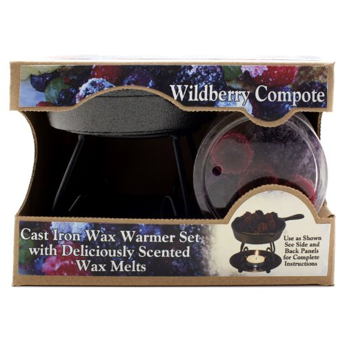 Bright Ideas Candle Wax Warmer Gift Pack, Wildberry Compote (Cast Iron Tart Warmer compare prices)