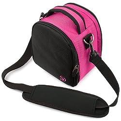 VanGoddy Laurel DSLR Camera Carrying Bag with Removable Shoulder Strap for Sigma DP2x Digital SLR Camera (Hot Pink)