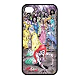 Zombie Disney Princess Little Mermaid Iphone 4,4s Case TPU New Back Case Black