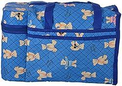 WonderKart Multi Purpose Baby Diaper Mother Bag With 2 Bottle Holders - Keep Baby Bottles Warm (Dark Blue)