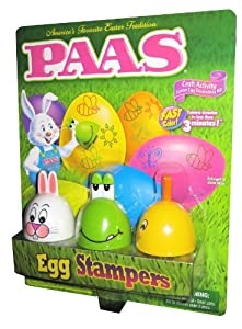 Paas Egg Stampers. Craft Activity Easter Egg Decorating Kit, Includes 6 Dye Tablets, 3 Stamp Designs, 3 Ink Pads, 3 Stampers, 1 Egg Dipper