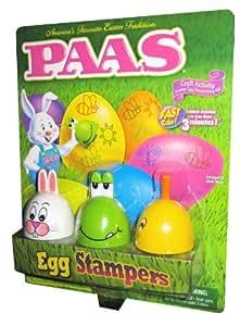 Paas Egg Stampers. Craft Activity Easter Egg Decorating Kit, Includes 6 Dye Tablets, 3 Stamp Designs, 3 Ink Pads, 3 Stampers, 1 Egg Dipper