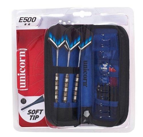 GARLANDO UNICORN Set 3 freccette c/punta plastica custodia delux+acc.E500 DA-406