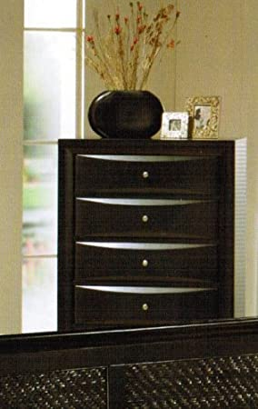 Storage Chest with Drawers - Black Finish