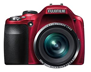 Fujifilm Finepix SL300 14MP Digital Camera with 30x Optical Zoom (Matte Red)