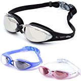 Swim Elite Marlin Mirror Swimming Goggles with UV and Anti Fog Protection - For Adults, Juniors, Kids Indoor and Outdoor use including Triathlon / Lido Training