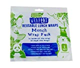 Wrapeat Reusable Food Snack Wrap Pack-x3 Multipack for Lunch Boxes and Lunch Bags