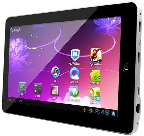 Kocaso M1050 Google Android 4.0 4GB 1.2GHz 1GB DDR3 Ram 4GB Rom1080p HDMI Productivity 3D Games WiFi Front Camera 10.1 Wonderful Slim Tablet PC (Silver)