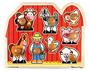 Melissa & Doug Jumbo Knob Wooden Farm Puzzle from Melissa & Doug
