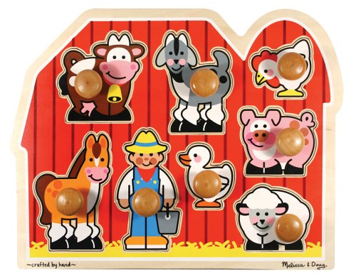 Melissa & Doug Jumbo Knob Wooden Farm Puzzle