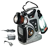 "Jeep JX-LTVCMP Portable Lantern / Flashlight with 5"" B/W TV and AM/FM Radio"