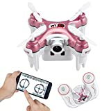 Kingtoys Mini RC Quadcopte, Cheerson CX-10WD-TX Mini Wifi FPV Quadcopter Drone With HD Camera High Hold Mode 2.4G 6-axis Remote Control Nano Quadcopter RTF Mode Switch(Blue)