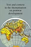 img - for Text and Context in the Thematisation on Postwar Development (Varia Economie) book / textbook / text book