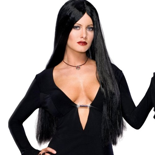 Rubies Costumes Women's Addams Family Deluxe Morticia Wig