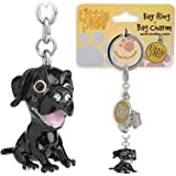 Little Paws Black Labrador Key Ring / Bag Charm