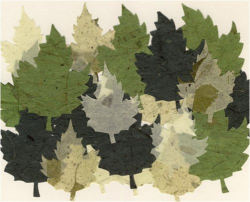 Decorative Die Cut Paper Accents- Pack of 20 Shades of Green Maple Leaves