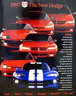 1997 Dodge Car Full-Line Vehicle Brochure