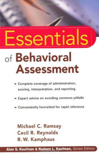 Essentials of Behavioral Assessment (Essentials of...